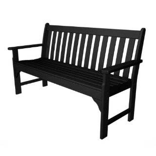 60 Inch Bench, Black Recycled Plastic Materials Patio, Lawn & Garden