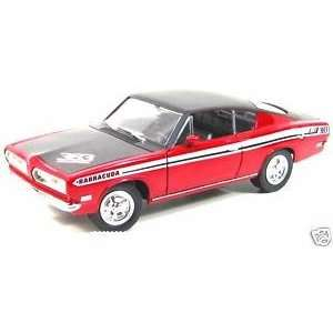 Yat Ming Red/Black Plymouth Barracuda 118th Scale