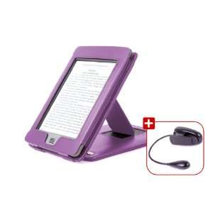 DURAGADGET Purple Genuine Leather Case & Cover With Multiple Position