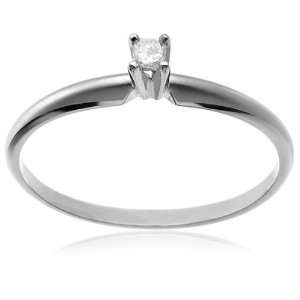 14k. White Gold Diamond Engagement / Promise Ring Size 7 Jewelry