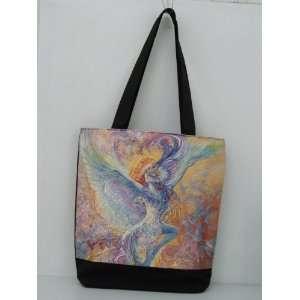 Rainbow Colorful Blue Bird Tote Bag 175 Josephine Wall