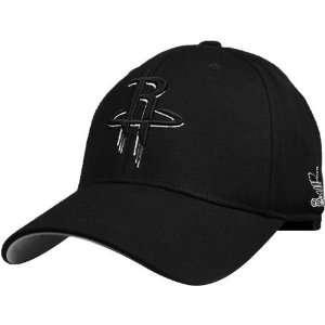 Houston Rockets Black Tonal White Pop Flex Fit Hat Sports