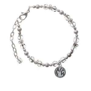 Round Disc Clear Czech Glass Beaded Charm Bracelet [Jewelry] Jewelry