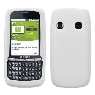 White Rubberized Hard Case Cover for Samsung Replenish