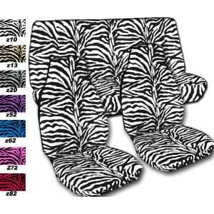 Complete set of White Zebra seat covers for a Jeep Wrangler TJ (1997