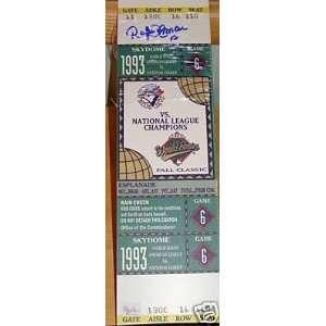 Series Mini Mega Ticket   Signed MLB Baseball Tickets Sports