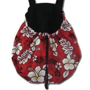 Pouch Pet Carrier   Red & White Hawaiian