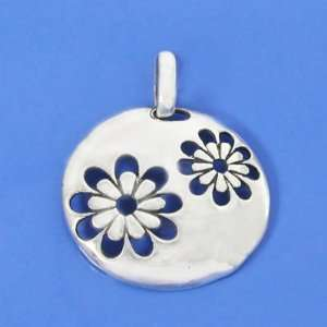 Grams 925 Sterling Silver Flower Circle Pendant Arts, Crafts & Sewing