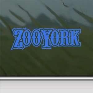 Zoo York Blue Decal Surf Skate Snow Board BMX Car Blue