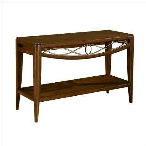 Cypress Pointe Sofa,Console Table in Warm Chestnut