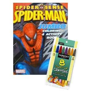 Spiderman Coloring Book Set with Twist up Crayons Toys & Games