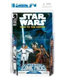 Star Wars Clone Wars Action Figure Comic 2 Pack Dark Horse Heir to