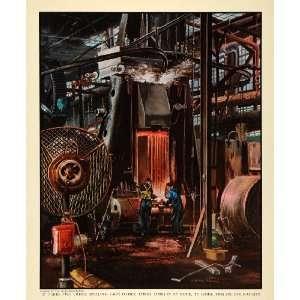 1939 Print General Motors Chevrolet Steam Hammer Crank Shaft Industry