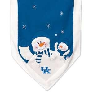 NCAA Kentucky Wildcats Snowman Christmas Table Runner