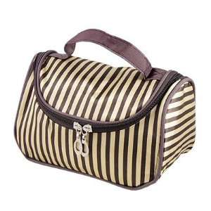 Tone Striped Toiletry Holding Pouch Makeup Bag