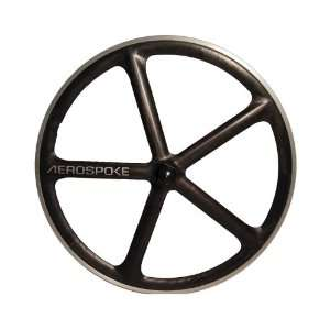 Aerospoke Raw/Natural Front Track Machined 700C:  Sports