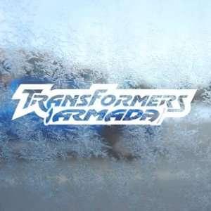 Transformers White Decal Armada Car Window Laptop White