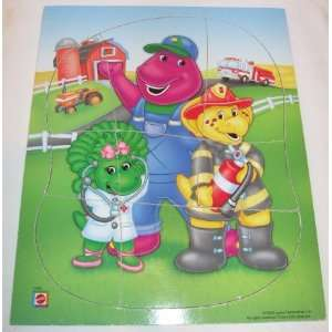 & BJ & Baby Bop Heavy Duty Toddler 8 pc Tray Puzzle: Everything Else