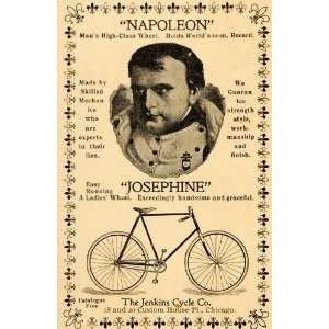 1896 Vintage Ad Napoleon Josephine Bicycles Bike Cycles