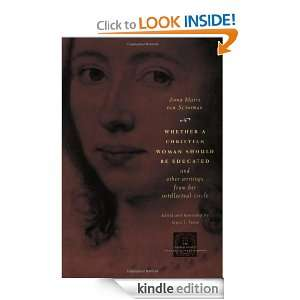 Voice in Early Modern Europe) Anna Maria van Schurman, Joyce L. Irwin