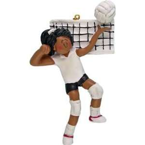African American Female Volleyball Player Christmas