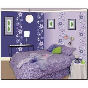 Murals 29 Purple Fun Flower Border Wall Decor Transfer Sticker Baby