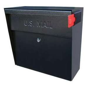 Metro Wall Mount Mail Boss Locking Mailbox Black: Home