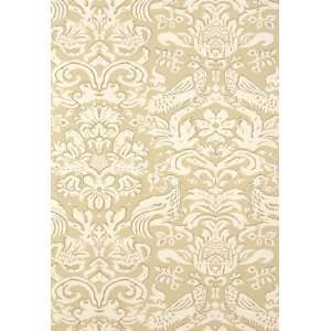com Aldwyn Damask Oatmeal by F Schumacher Wallpaper Home Improvement