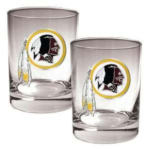Washington Redskins NFL 2pc Rocks Glass Set   Primary logo