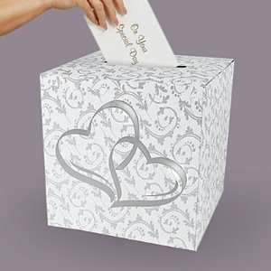 Kates Wedding Card Box   Two Hearts Wedding Money Box