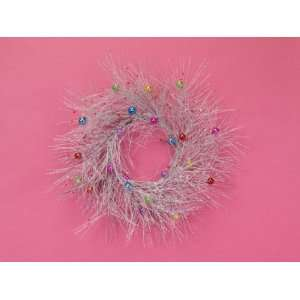 Glitter Multi Colored Ornament Christmas Wreaths 20