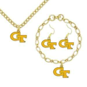 Yellow Jackets Ladies Gold Tone Jewelry Gift Set