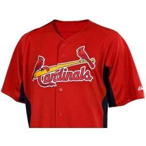 Louis Cardinals Majestic MLB Youth Cool Base Batting Practice Jersey