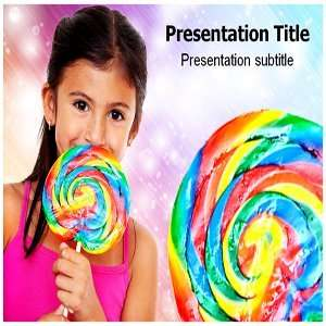 Girl With Candy Powerpoint Templates   Girl With Candy