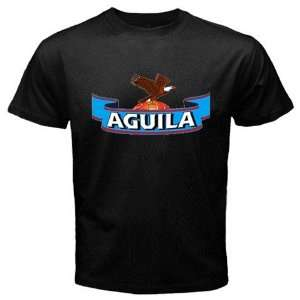 Aguila Beer Logo New Black T shirt Size M Everything