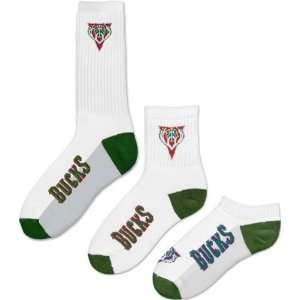 Milwaukee Bucks Mens 3 Pair Sock Pack