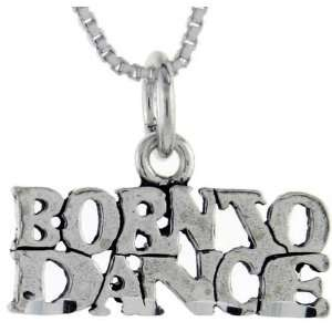 925 Sterling Silver Born to Dance Talking Pendant (w/ 18 Silver Chain