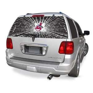 Cleveland Indians Rear Window Shattered Glass Rearz Sticker   Decal