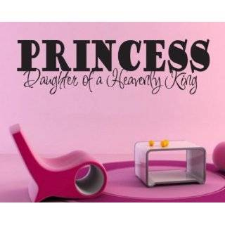 Princess Daughter of a Heavenly King Child Teen Vinyl Wall Decal Mural