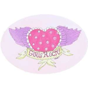 The Kids Room Girls Rock, Oval Wall Plaque Baby