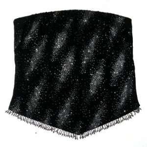 Rhinestone Crystal & Beaded Fringe Starry Night Tube Top