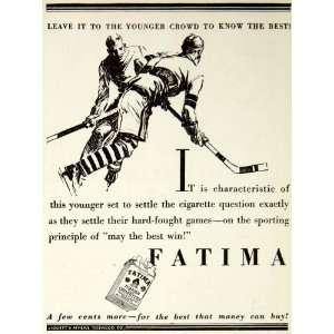 Ad Fatima Hockey Cigarette Tobacco Sport Games Turkish Advertising