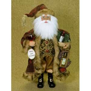 Karen didion Originals Santa Claus wine and Friends 16