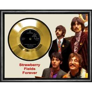 The Beatles Strawberry Fields Forever Framed Gold Record