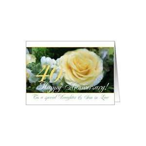 40th Wedding Anniversary card for Daughter and Son in law
