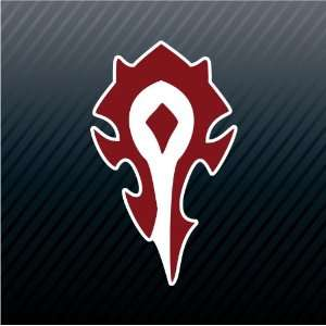 World of Warcraft Horde Symbol Red Game Sticker Decal