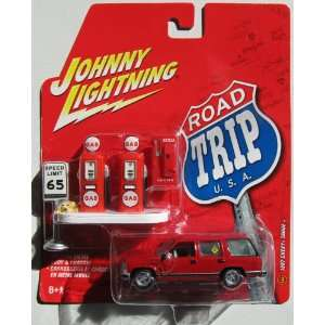 2006 Johnny Lightning Road Trip USA 1997 Chevy Tahoe Red