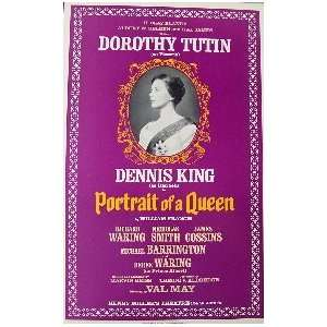 PORTRAIT OF A QUEEN (ORIGINAL BROADWAY THEATRE WINDOW CARD