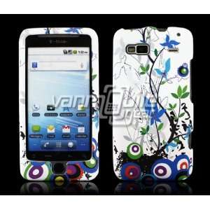 COLORFUL BLUE VINES DESIGN CASE for HTC G2