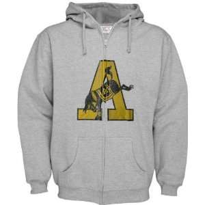 Army Black Knights Grey Distressed Mascot Full Zip Hooded
